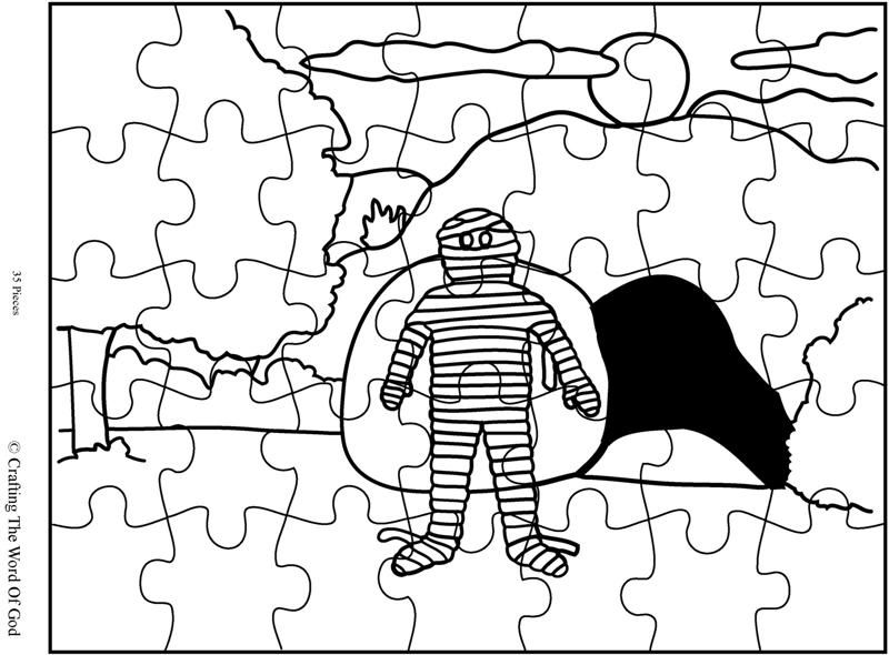 Lazarus Raised From The Dead Puzzle Activity Sheet Bible Crafts Sunday School Coloring Pages Bible Class Activities