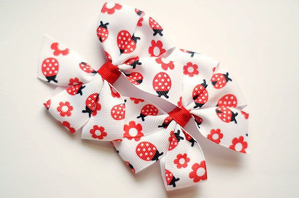 Pinwheel Hair Bows Set M2MG Gymboree  Polka Dot by oopinkisfunoo, $5.00