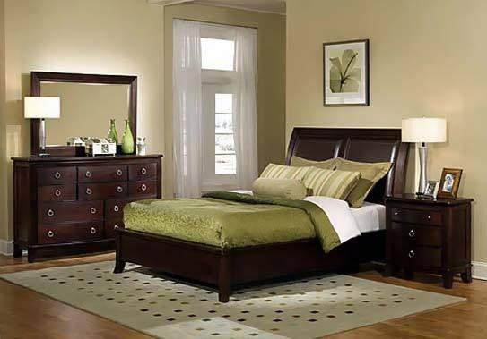 Schlafzimmer Grün/braun