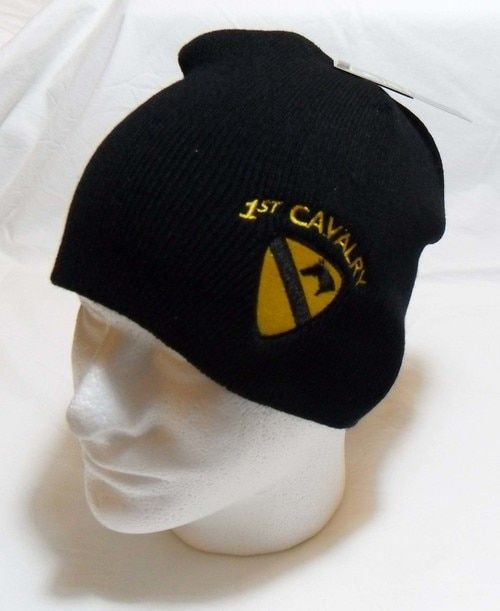 97306c979a6c73 US Army 1st Cavalry with Logo Watch Cap Beanie Winter Ski Hat Toboggan  Officially Licensed