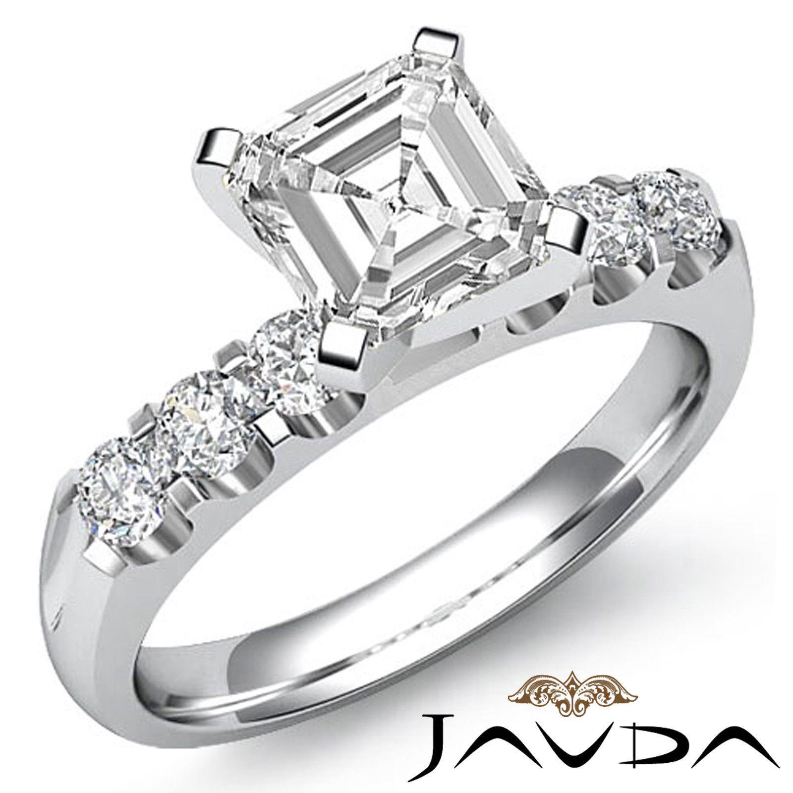 Brilliant Asscher Diamond Glistening Engagement Ring EGL E VS1 Platinum 1 31 Ct | eBay