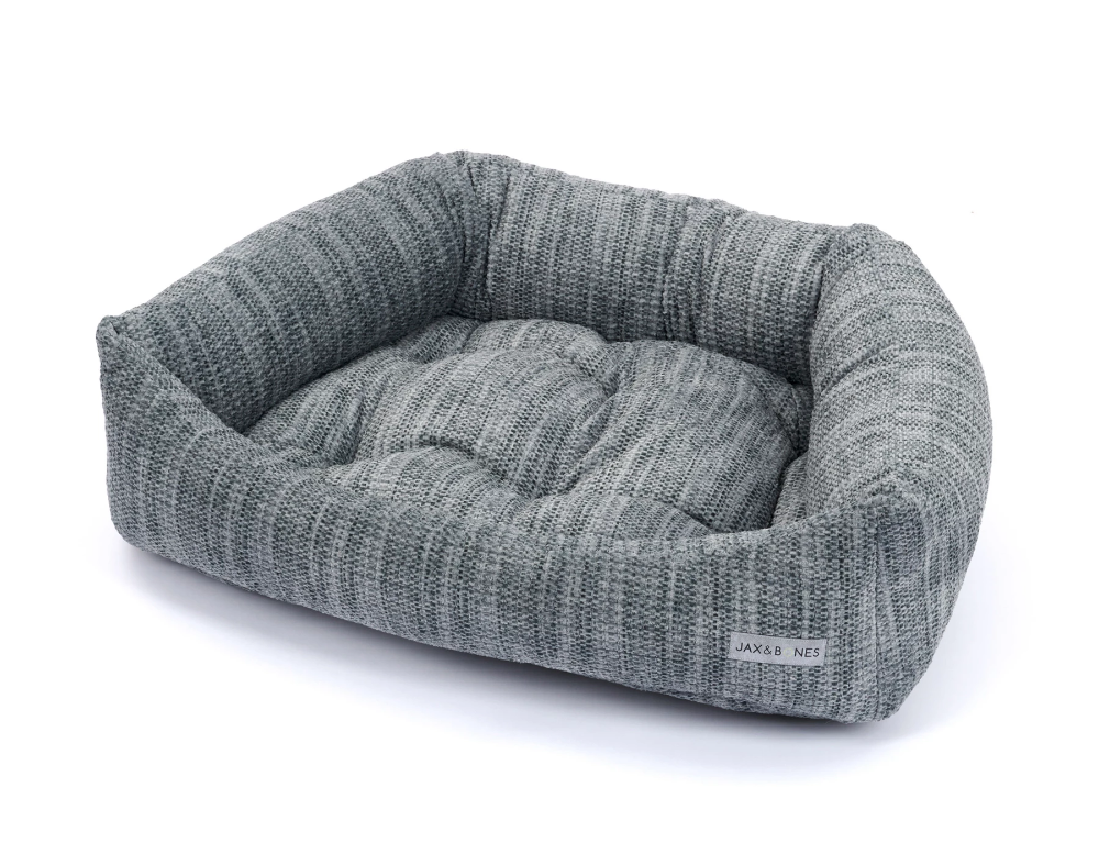 Torino Charcoal Napper Bed Designer Dog Beds Dog Bed Luxury Dog Bed
