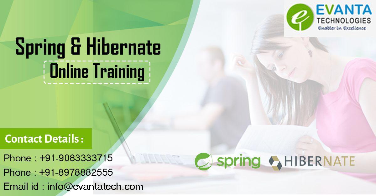 Evanta Technologies Offers Spring and Hibernate Framework