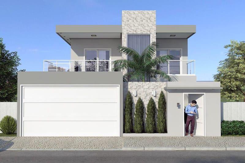 Conhe a um dos nossos projetos favoritos com uma fachada for La casa moderna