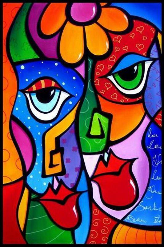 Rostros Cuadros Abstractos Modernos Pinturas Abstractas Arte Abstracto Geometrico Dibujos Abstractos