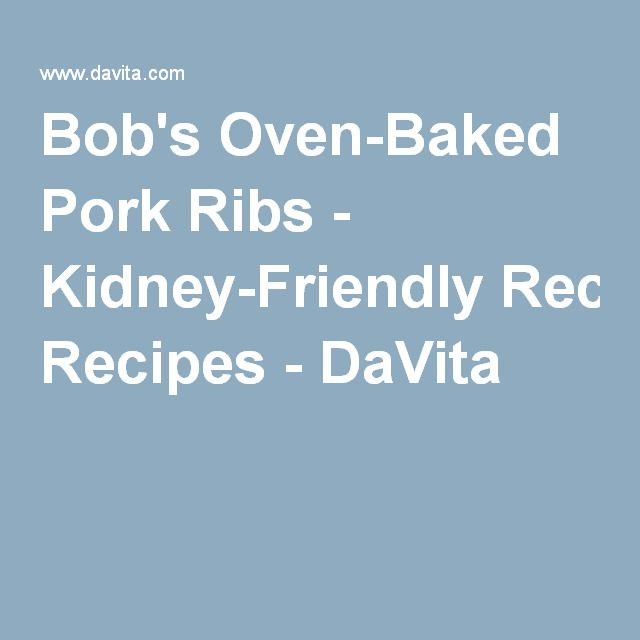 can renal diet have ribs