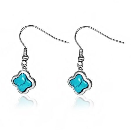 5663d6af9 TURQUOISE STAR DROP HYPOALLERGENIC EARRINGS | Solace Jewellery ...