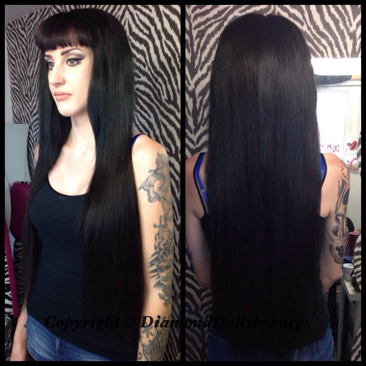 "Wearing Brazilian straight Famoushair x3 28"" installed by Diamond Dolls Beauty"