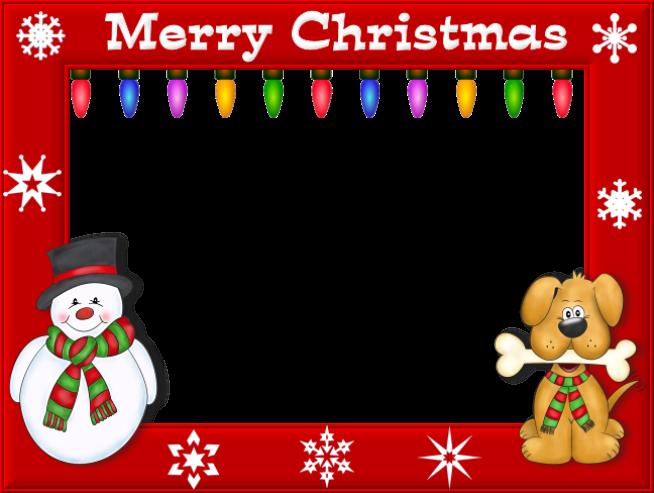 Happy Merry Christmas Day Photo Frame Christmas Photo