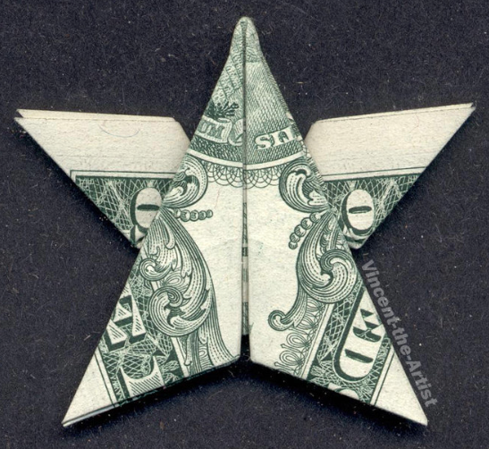 Cash Money Gift Ideas: Origami Dollar Star by Vincent Origami ...