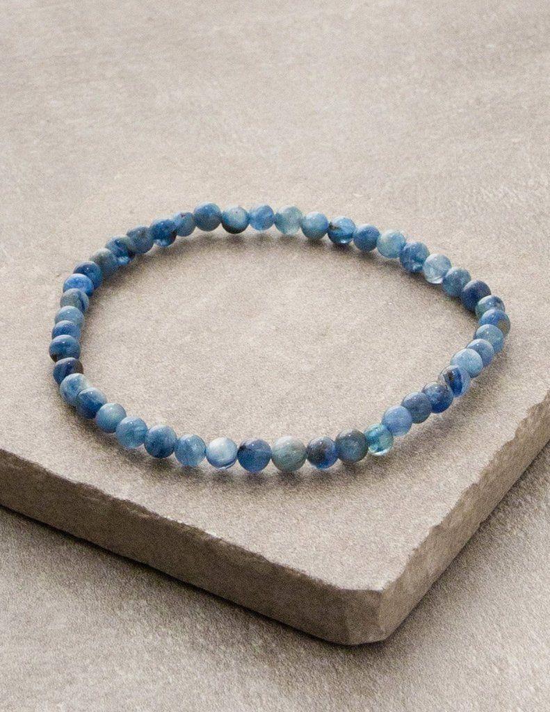 Kyanite Mini Gemstone Energy Bracelet With Images Healing Gemstone Bracelets Gemstones Energy Energy Bracelets