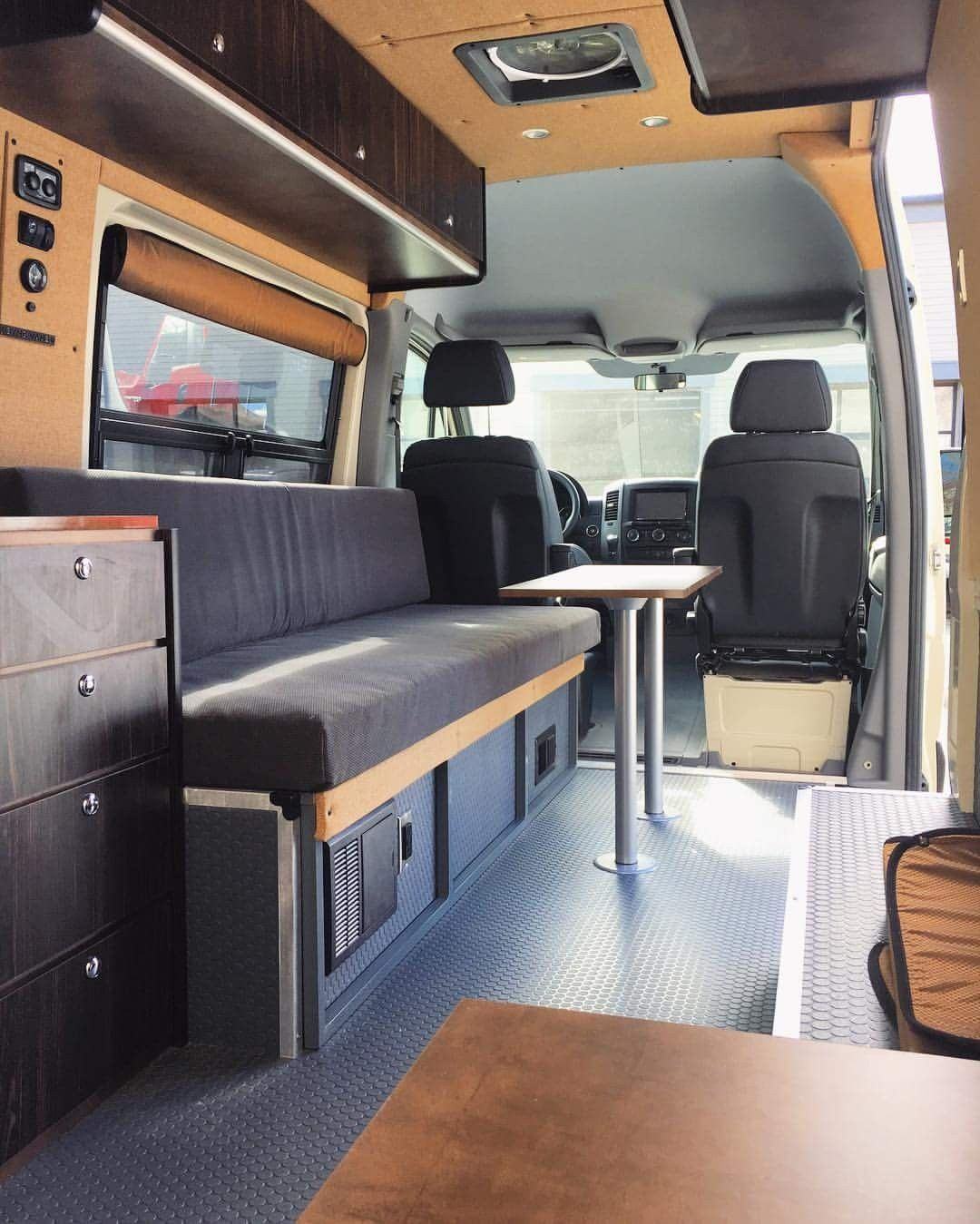 Class B RV Interior Of Converted Camper Van Chevy Project And Discussion Forum Best Sprinter Conversion Design
