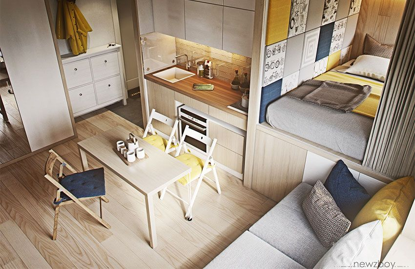 Cozy Apartments by Yurii Hrytsenko - DECOmyplace 小户型设计 - Small Room Interior Design