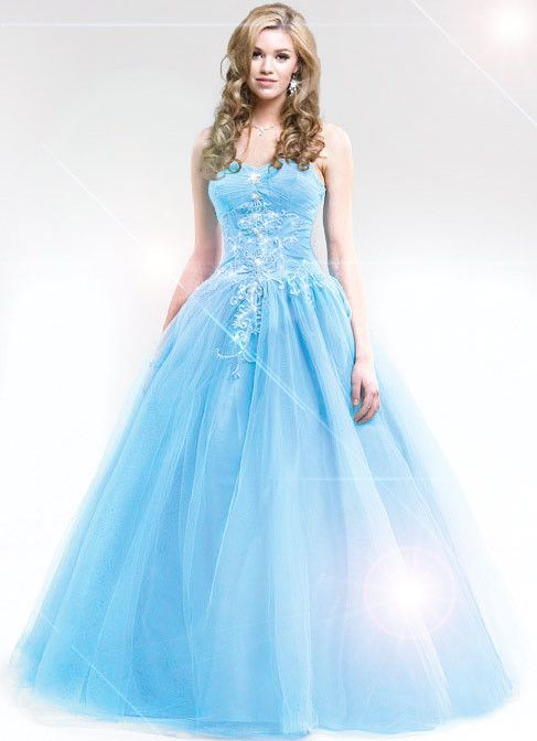 Light Blue Prom Dresses For Girls and Women, Indian Dresses ...