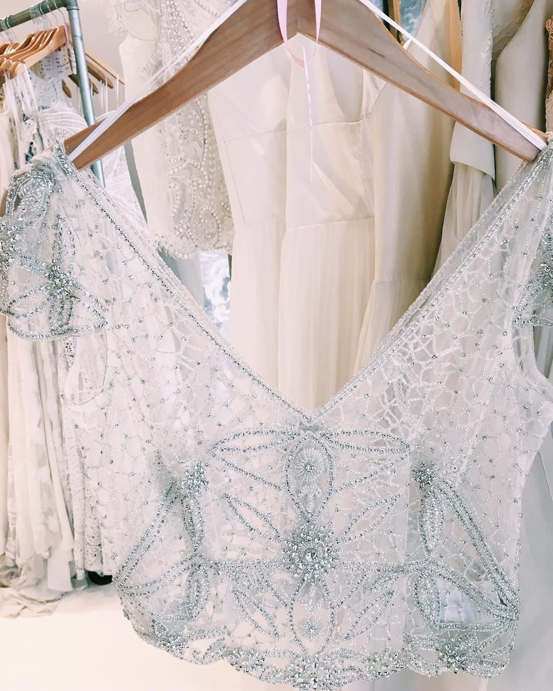 Anna Campbell Vienna Topper Alice In Ivory Bridal Chicago Bridal