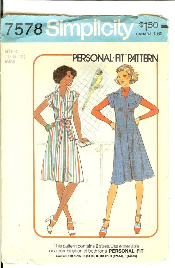 Vintage 70s Dress or Jumper Sewing Pattern Simplicity by Finders2, $5.00