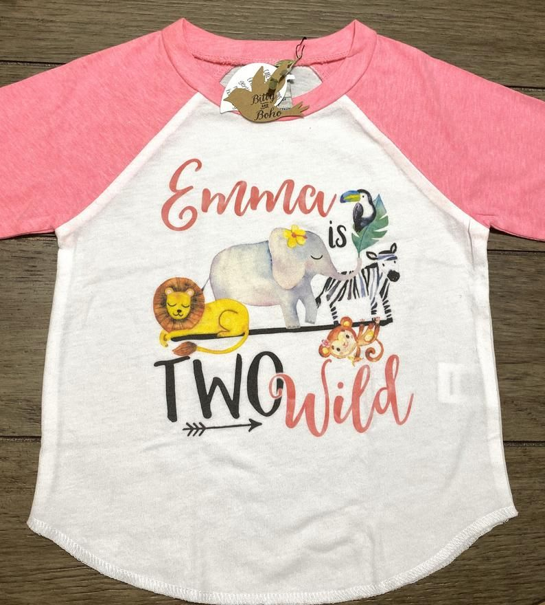 Custom Two Wild Shirt, Zoo Birthday Shirt, Second Birthday