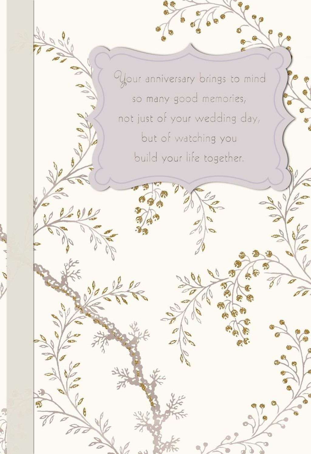 flowering branches anniversary card for son and daughter