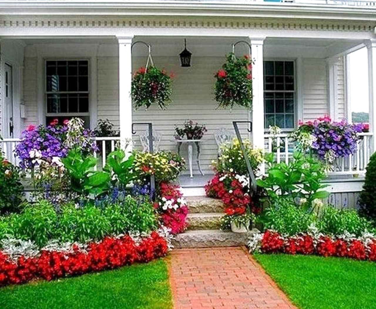 44 Beautiful Front Yard Garden Landscaping Design Ideas And Remodel Home Garden Front Yard Design Porch Landscaping Front Yard Garden