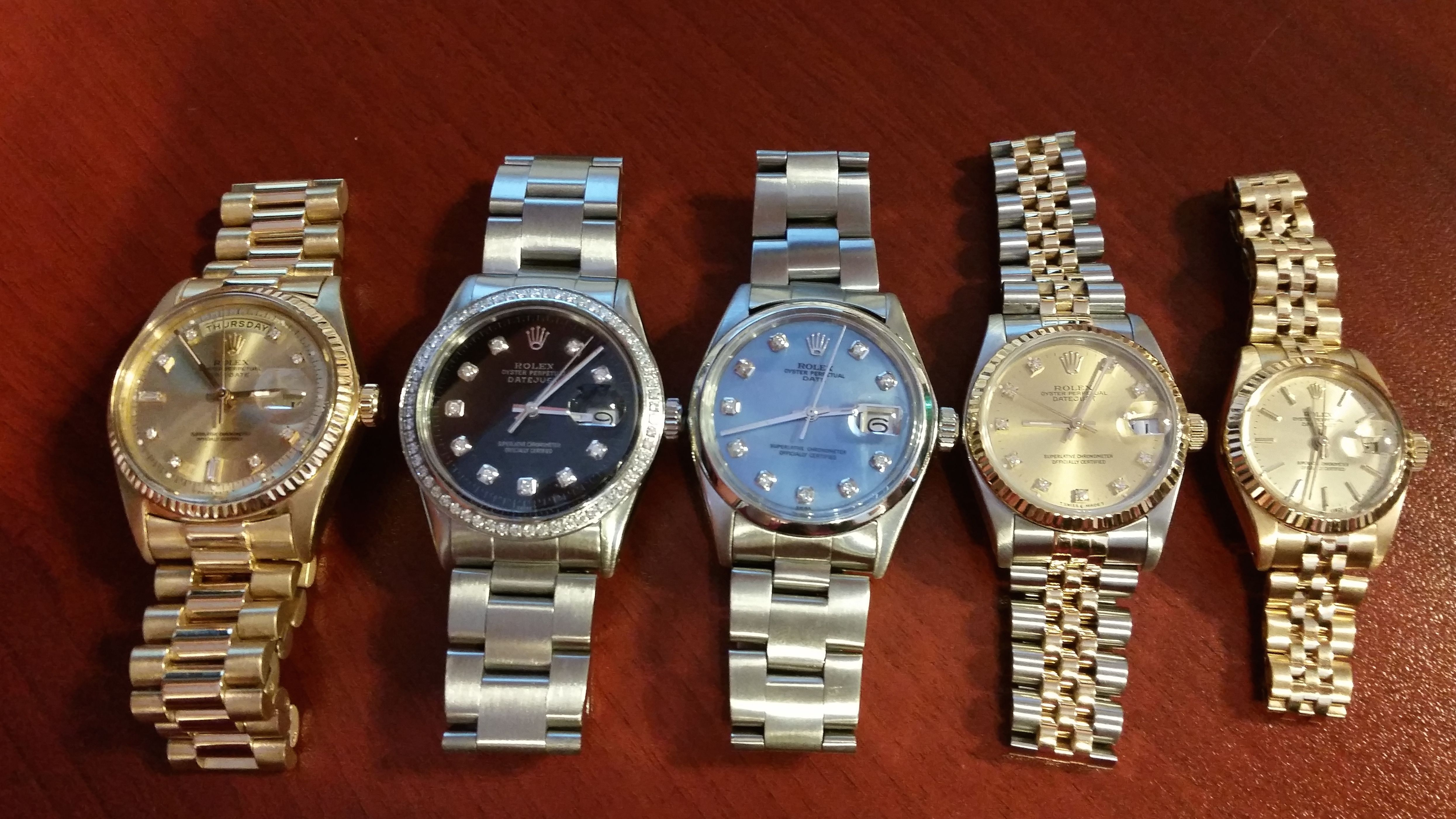 quick comparison of the sizes of Rolex watches #datejust #daydate #date #midsize #ladies #mens #reference