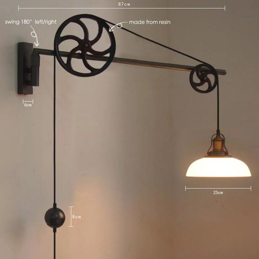 Chester Art Deco Pulley Wall Light Measurements Pulley Wall Light Pulley Light Fixture Wall Lamp