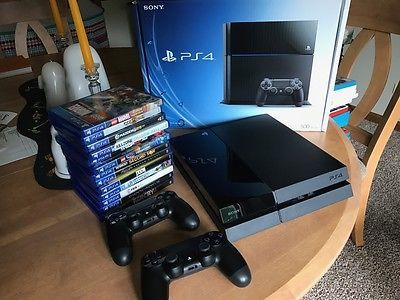 Sony PlayStation 4 500 GB Black Console with 13 games and 2 controllers https://t.co/dii5yXfrTp https://t.co/ewDsATo4Qx