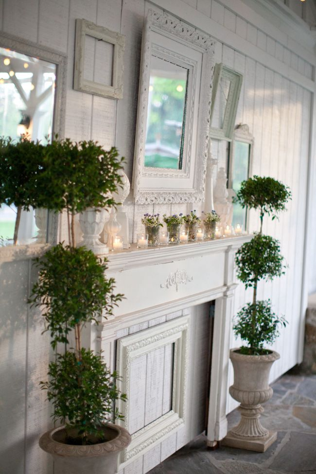 Shabby Chic Wedding At Nashville S Cedarwood Shabby Chic Mantle Shabby Chic Fireplace Shabby Chic Living