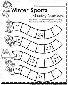 January Kindergarten Worksheets January Kindergarten Worksheets