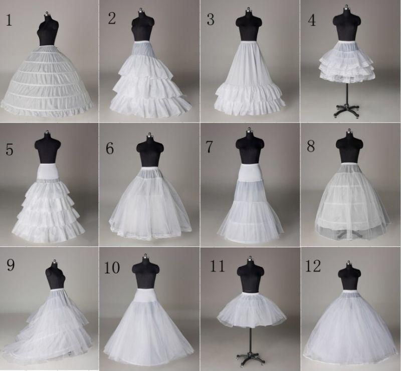 Weißes Tuch 3 Hoop Brautkleid Petticoat Crinoline Underskirt