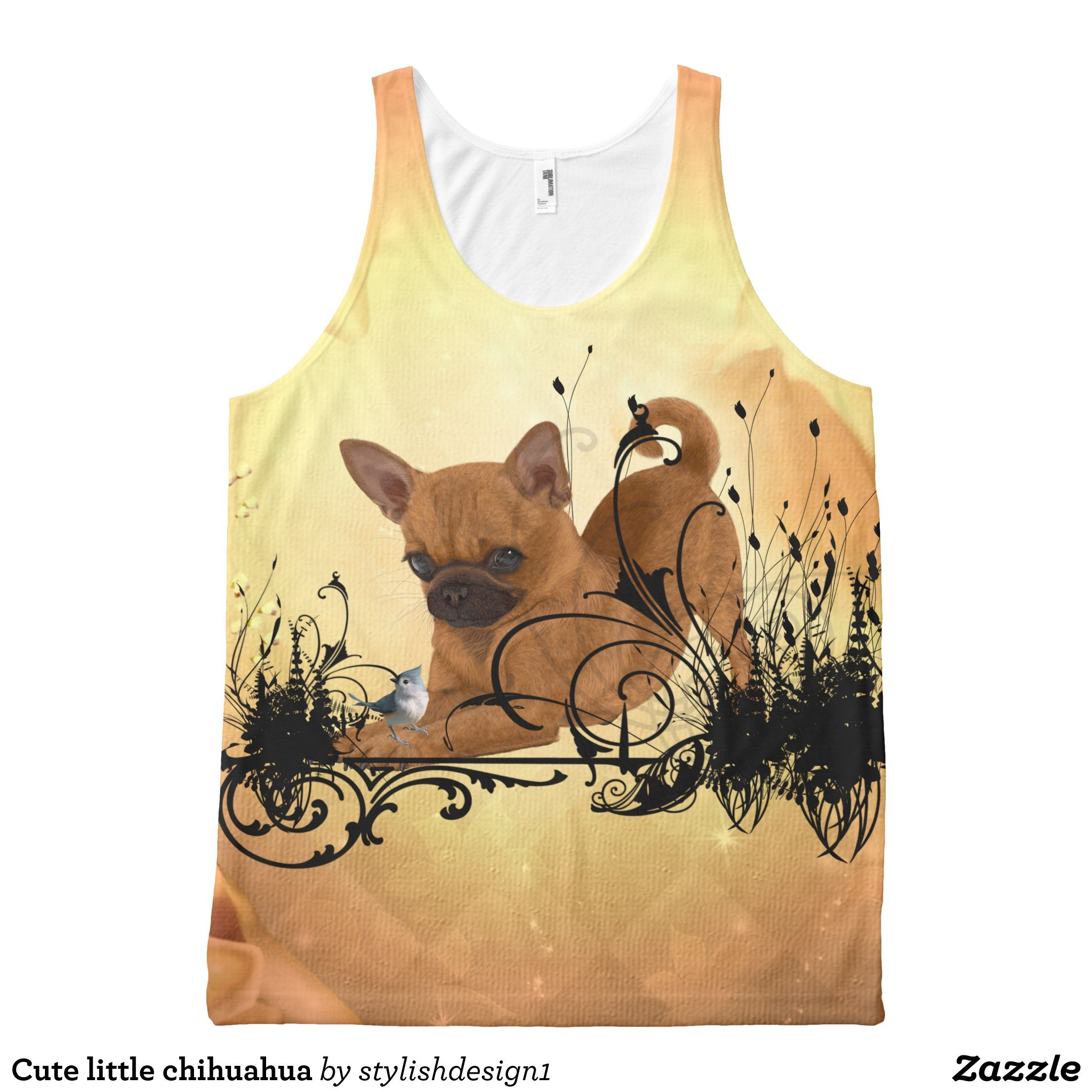 Cute Little Chihuahua All Over Print Tank Top Zazzle Com