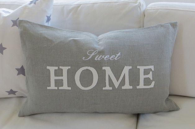 Kissen Kissen Grau Weiss Sweet Home Ein Designerstuck Von