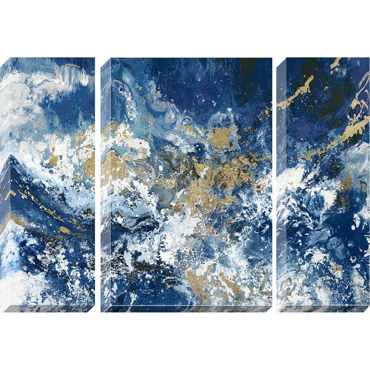 Blue Marble Hand Painted Canvas Wall Art 20 X 32 Blue Canvas Art Canvas Painting Canvas Wall Art