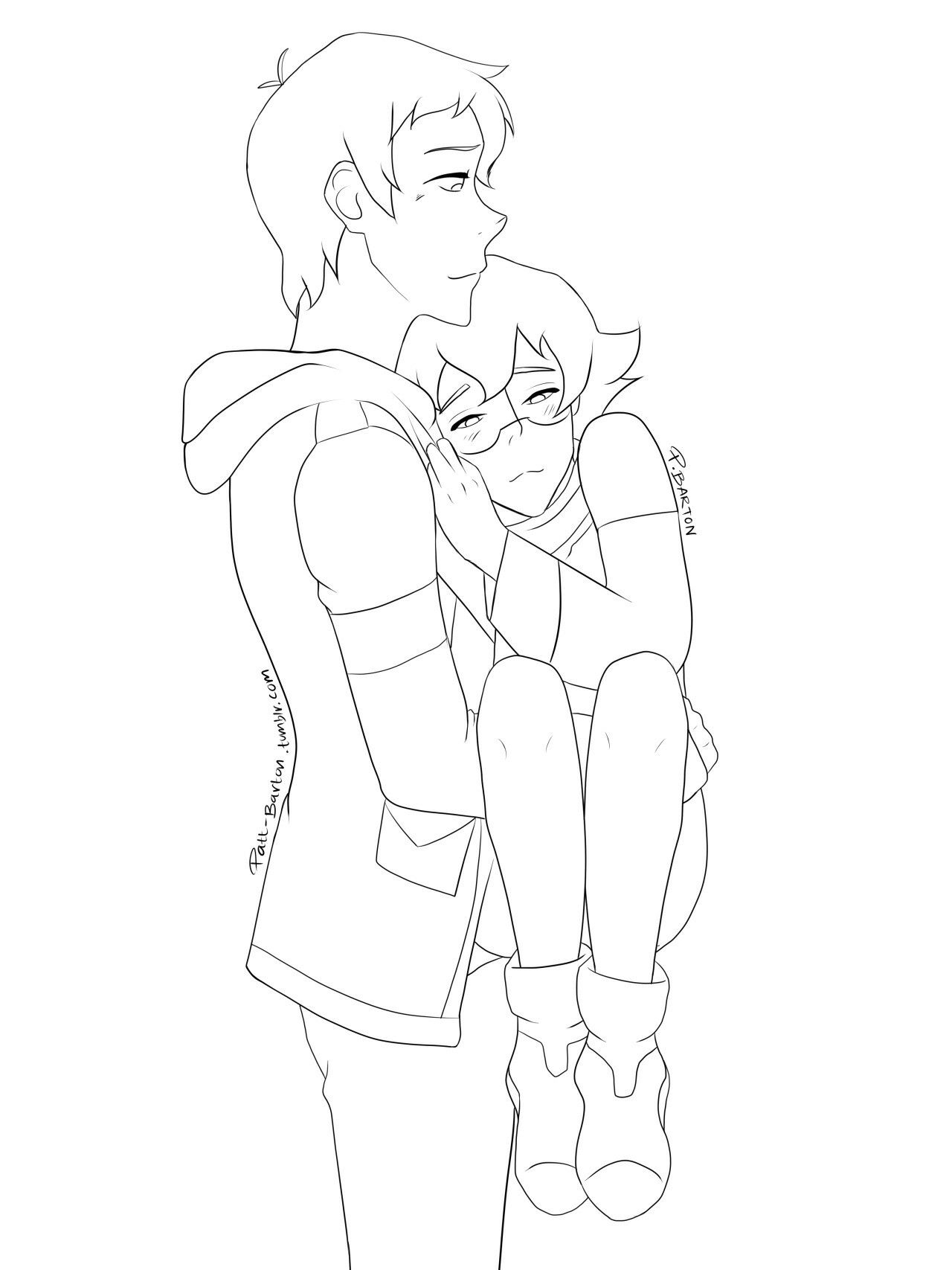 Lance Carrying Sleepy Pidge In His Arms From Voltron