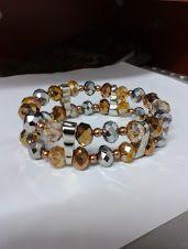 800f1b51a072 pulsera elastica piedras murano  1 metro de hilo nylon elastico 36 piedras  de murano colores plata