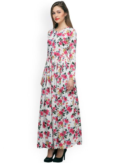 9734e6f585a Buy Cation Women White Printed Maxi Top - Tops for Women | Myntra ...