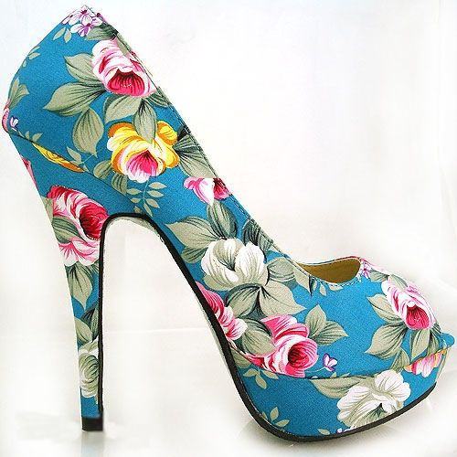 floral Love Heels |2013 Fashion High Heels|