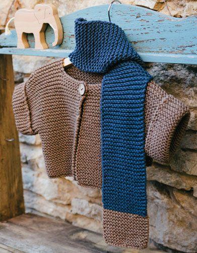 Garter Stitch Baby Jacket Free Knit Pattern Baby And Kids Knits