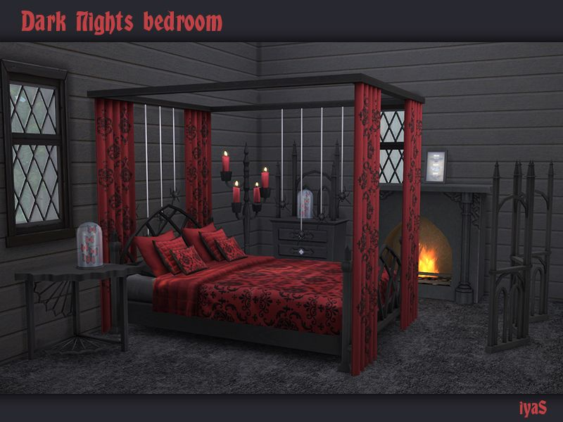 Dark Nights Bedroom Set For Your Gothic Sims Includes 11 Objects Found In Tsr
