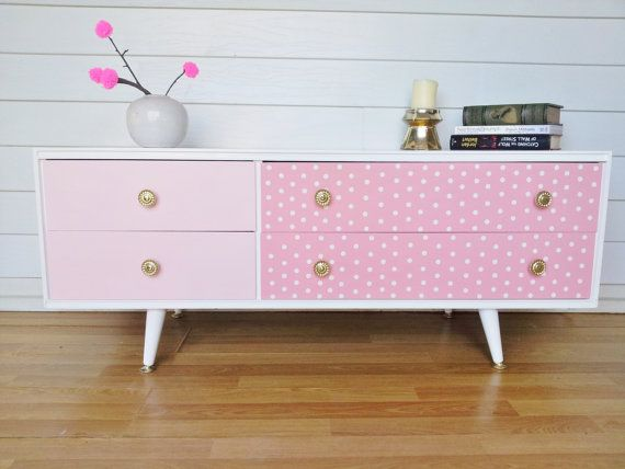 Polka dot hand painted retro drawers | For the Home | Pinterest ...