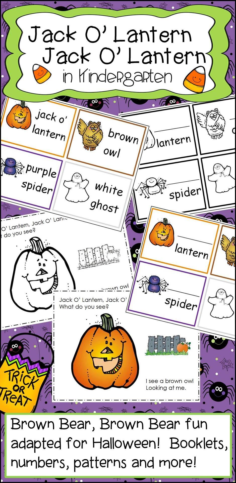 Jack O Lantern Jack O Lantern Activities in Kindergarten | Halloween ...