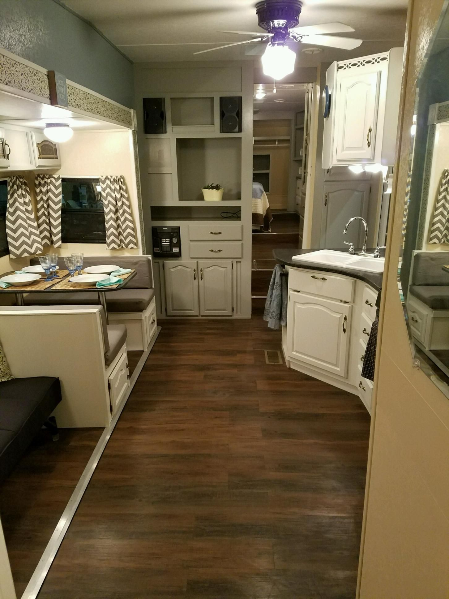 2 Slide Out Tiny House Newly Remodeled Rv For Sale In Billings Montana Tiny House Listings Camper Makeover Remodeled Campers Travel Trailer Remodel