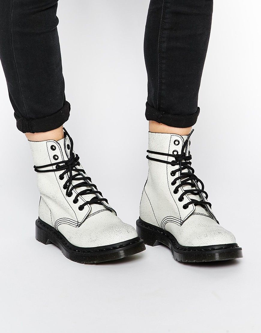 Dr Martens Core Pascal White/Black 8 Eye Ankle Boots My first pair ...