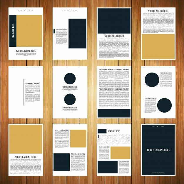 12 page booklet template Free Vector aleatórios Pinterest - free booklet template