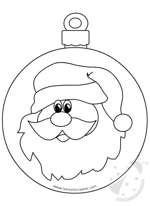 Pallina Babbo Natale2 Natale Christmas Origami Christmas Sheets