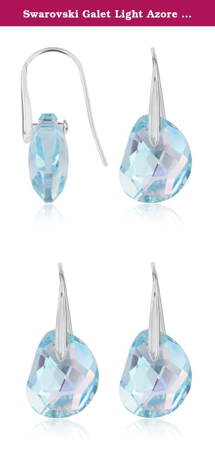Swarovski Galet Light Azore Blue Crystal Pierced Earrings 949740 From Swarovski A Hint Of Blue And A Dazzling Sh Earings Piercings Blue Crystals Shoe Jewelry