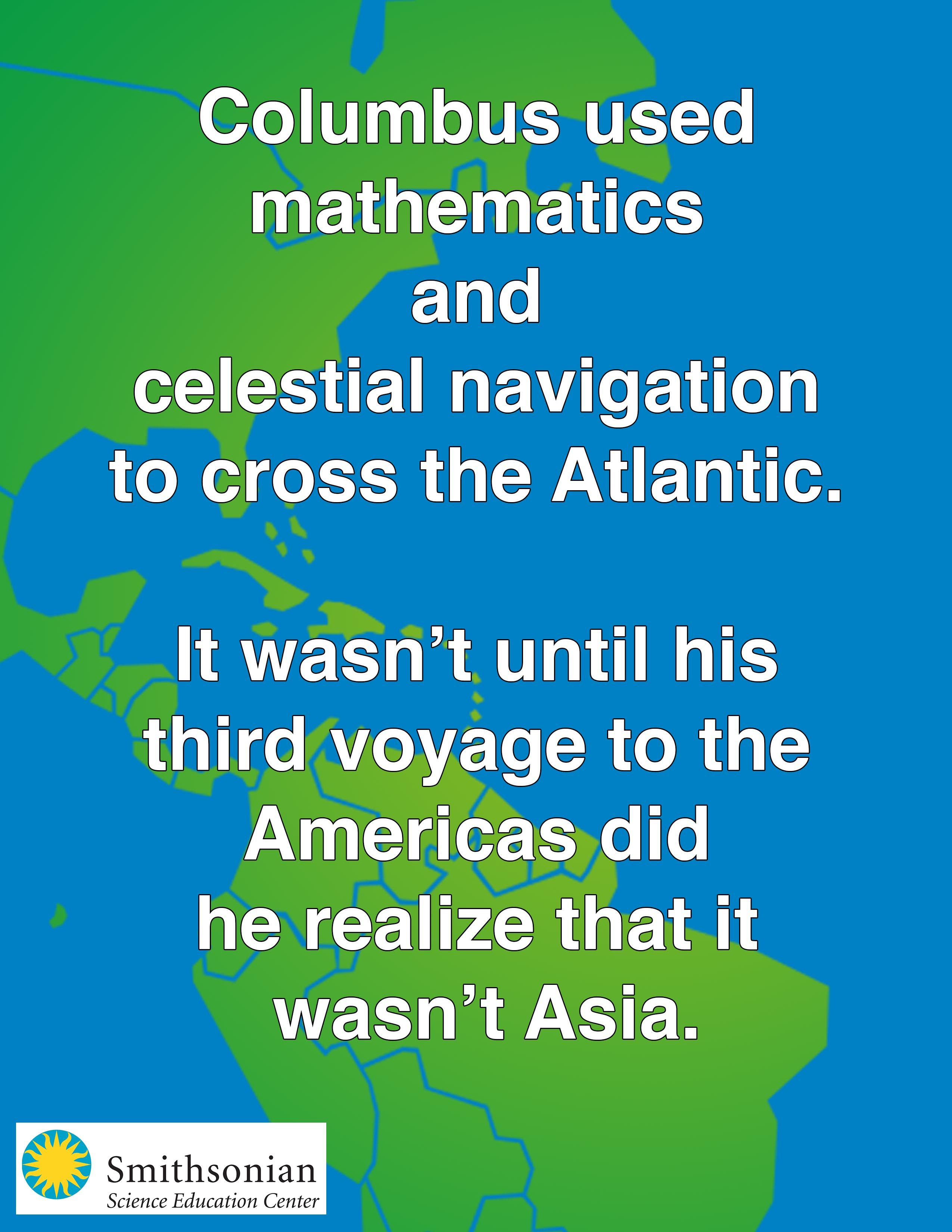fragment of a letter by christopher columbus columbus wrote christopher columbus relied on science to cross the atlantic by using math and celestial navigation