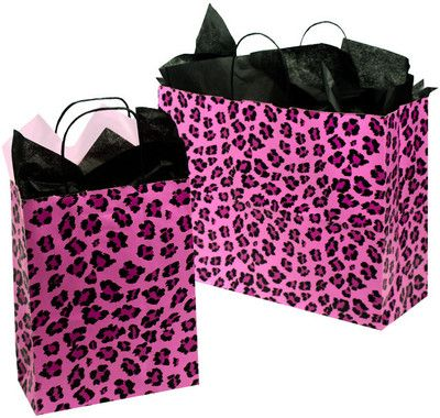 Animal Print Gift Bags: Leopard Print and Zebra Print