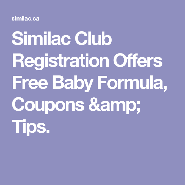 Similac registration