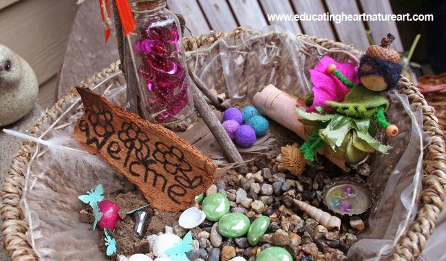 Basket Fairy Houses: www.educatingheartnatureart.com