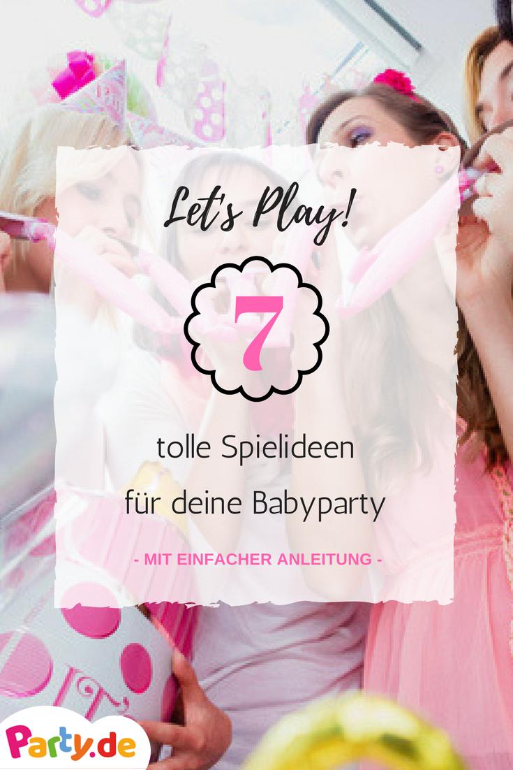 Für deine Babyparty brauchst du noch die passenden Spiele? Wir haben für die die 7 besten Spiele für deine Baby Shower zusammengestellt und erklärt, egal ob Mädchen oder Junge, hier findest du besten Ideen - auf Party.de #babyshowerparties